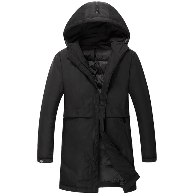 2017 Fashion Men 90% white duck down jacket Men Casual Warm long section thicken Coats Men Parka 890