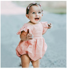 2019 New Baby Bodysuit Infant Girls Ruffle Onesie Pink Bubble Sunsuit Baby Girl Clothes Newborn Baby Girl Onesie