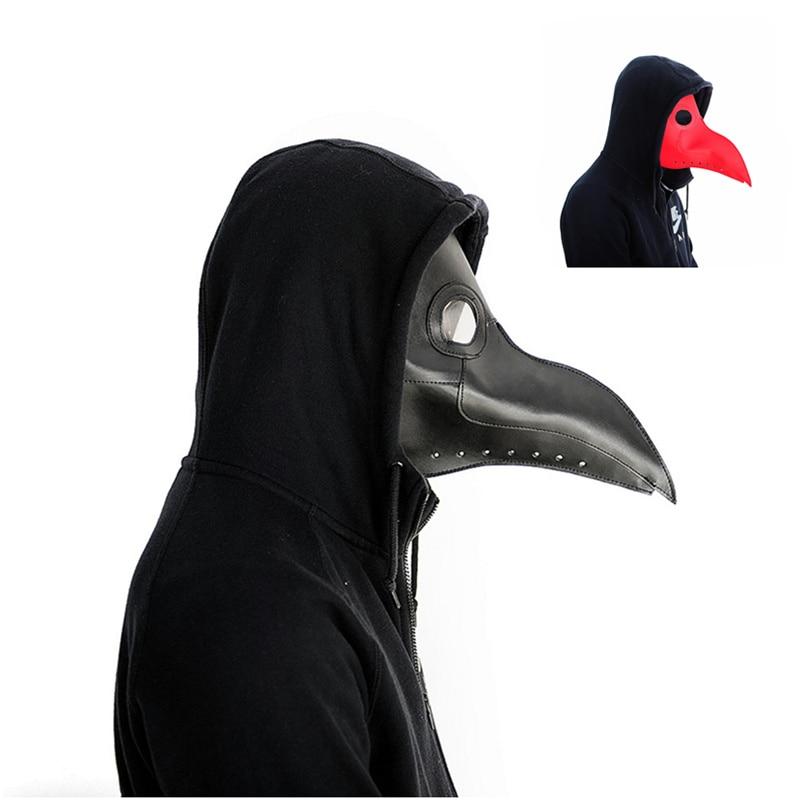 Peste medico maschera Becco Medico Maschera Naso Lungo Cosplay Maschera di Fantasia peste medico Gothic Retro Cuoio di Roccia di Halloween becco PY