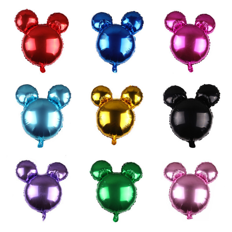 Taoqueen  Cartoon Hat Mickey Minnie Mouse Foil Balloons Happy Birthday Party Decoration  Mickey Head Balloon Cartoon Hat