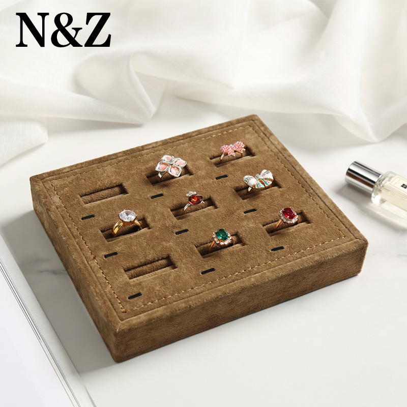 N&Z Earrings Ring Jewelry Box Simple Tray Box Display Rack Organizer Storage Holder Gift Box For Jewelry