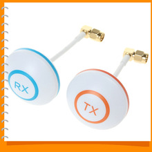 5.8GHz Mushroon Shape Circular Polarized Rightangle SMA Male Antenna Set for RC helicopter TX RX FPV aerial (Launch + Receiver)
