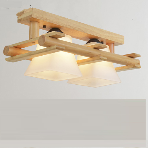 Solid wood ceiling lamp balcony American Scandinavian new chinese aisle corridor light LED Ceiling Lights CL MZ36 american country transparent glass ceiling lights street aisle corridor balcony kitchen originality led ceiling lamp