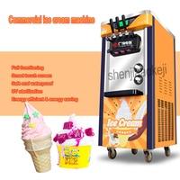 Commercial automatic ice cream machine 2100W three color vertical ice cream machine intelligent sweetener ice cream machine 1pc