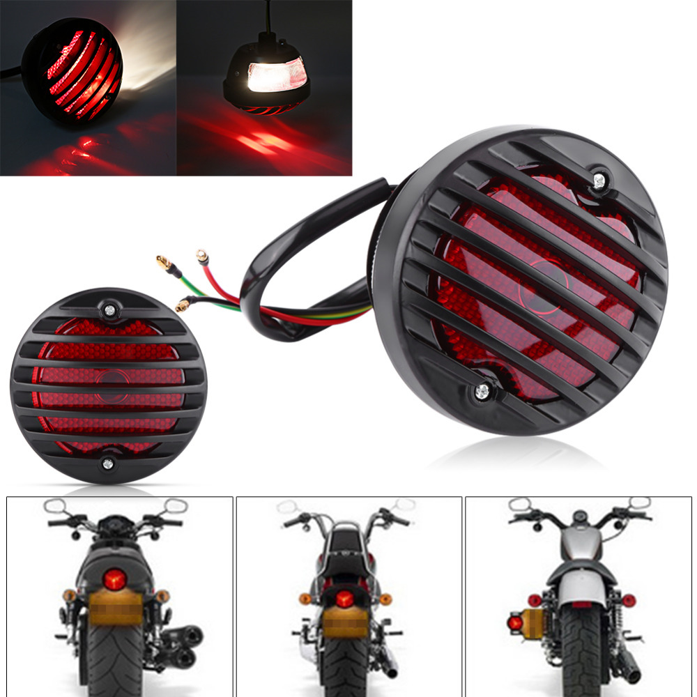 Round Motorcycle Tail Brake Light For Harley Bobber Chopper Scooters ATV 12V 20W Motorcycle AccessoriesRound Motorcycle Tail Brake Light For Harley Bobber Chopper Scooters ATV 12V 20W Motorcycle Accessories