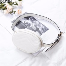 QIUYIN New Fashion High Quality 2019 Bags Women Pack Waist Bag Round Belt Luxury Brand Leather Chest Handbag