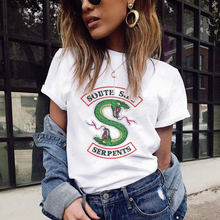 O-neck Short Sleeve Female T-shirt Riverdale Southside Serpents Jughead Tshirt Harajuku Kawaii Tops Korean Style Fashion Clothes(China)