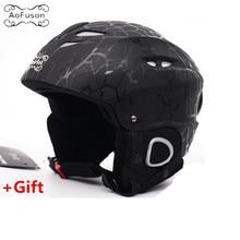 Brand Ski helmet adult Integrally-molded adjustable size warm windproof winter Snow sport Skating Skateboard Unisex helmets kask недорого