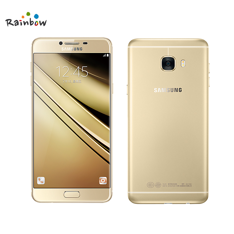 "bilder für 2016 Original Samsung Galaxy C7 C7000 5,7 ""4 GB RAM 16MP 3300 mAh 4G LTE octa-core Fingerprint Dual Sim Smartphone"