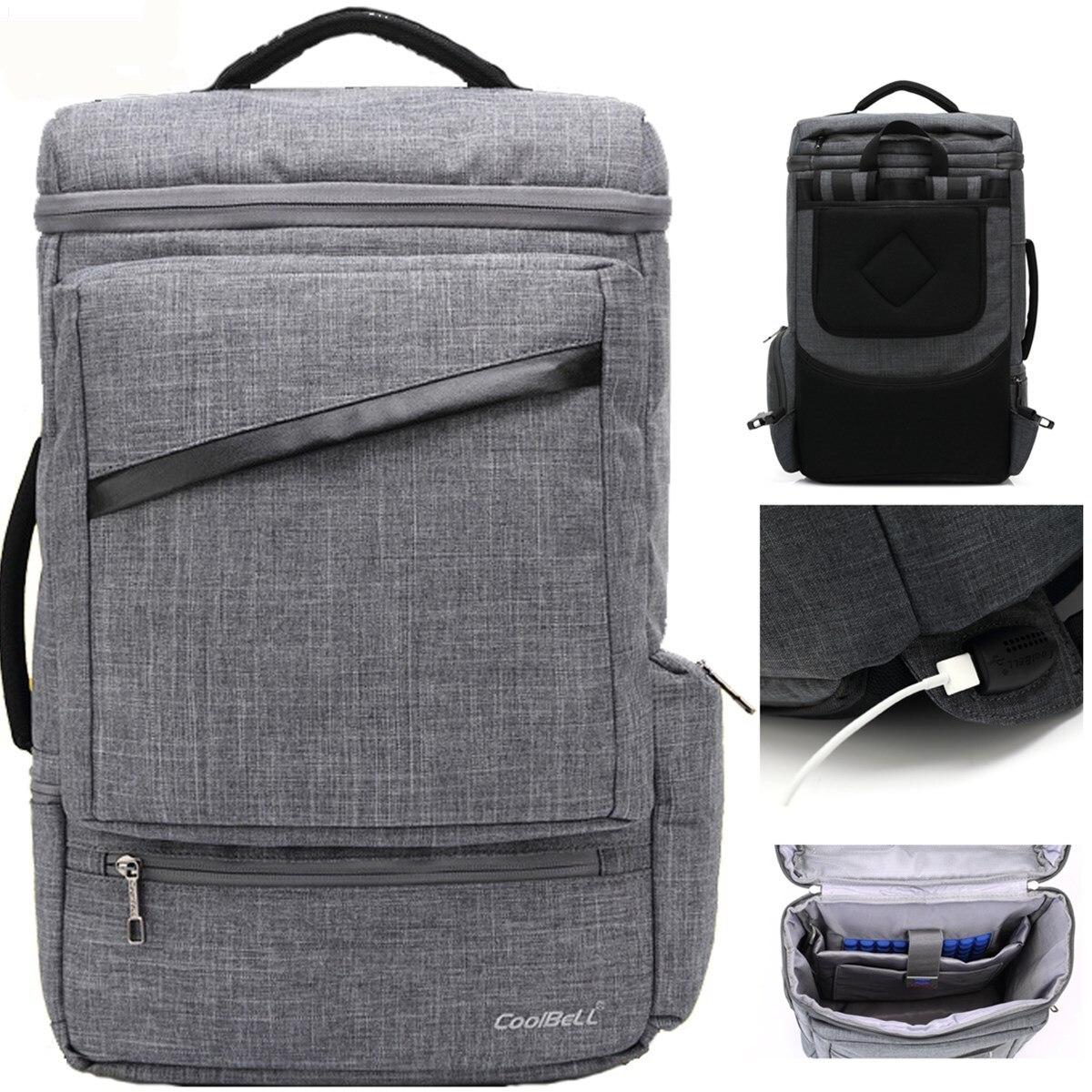 2018 nouveau sac à main USB charge 14 15 15.4 15.6 grande capacité voyage pochette d'ordinateur étui étanche couverture femmes hommes cahier sac à dos