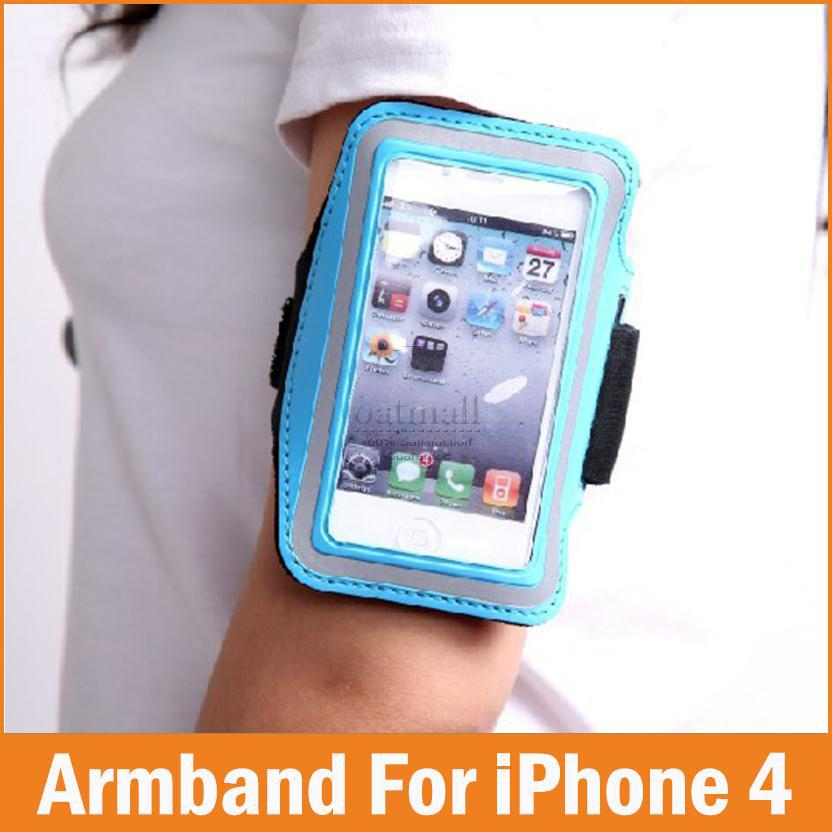 Sports GYM Running fundas Coque for apple <font><b>iPhone</b></font> 4 4S 4G Case 3.5 Waterproof <font><b>Jogging</b></font> Arm Band Phone bags Cases Cover <font><b>Accessories</b></font>