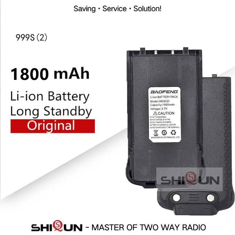 Original Baofeng 999S BF-999S 999S Plus 999S(2) Battery DC 3.7V 1800mAh Battery Baofeng Cheap Two Way Radio