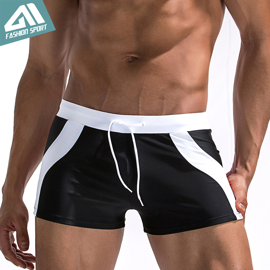 Aimpact Patchwork Men's Swimwear 2018 Summer Holiday Swimming Shorts Beach Surfing Fast Dry Swim Trunks Sexy Man Swimsuit AM6002