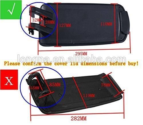 For Audi A4 B7 by Amoutlet Amoutlet Armrest Cover Lid Black Leatherette