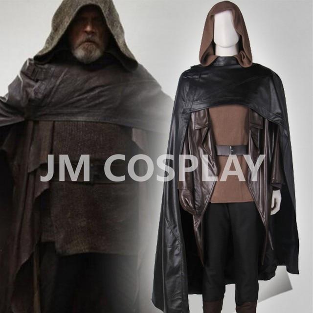 movie star wars 8 the last jedi luke skywalker cosplay costume black