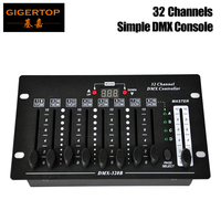 Gigertop 1351 32 Channel DMX Controller LED Fader Numerical Display Battery Support Working DMX Address Code