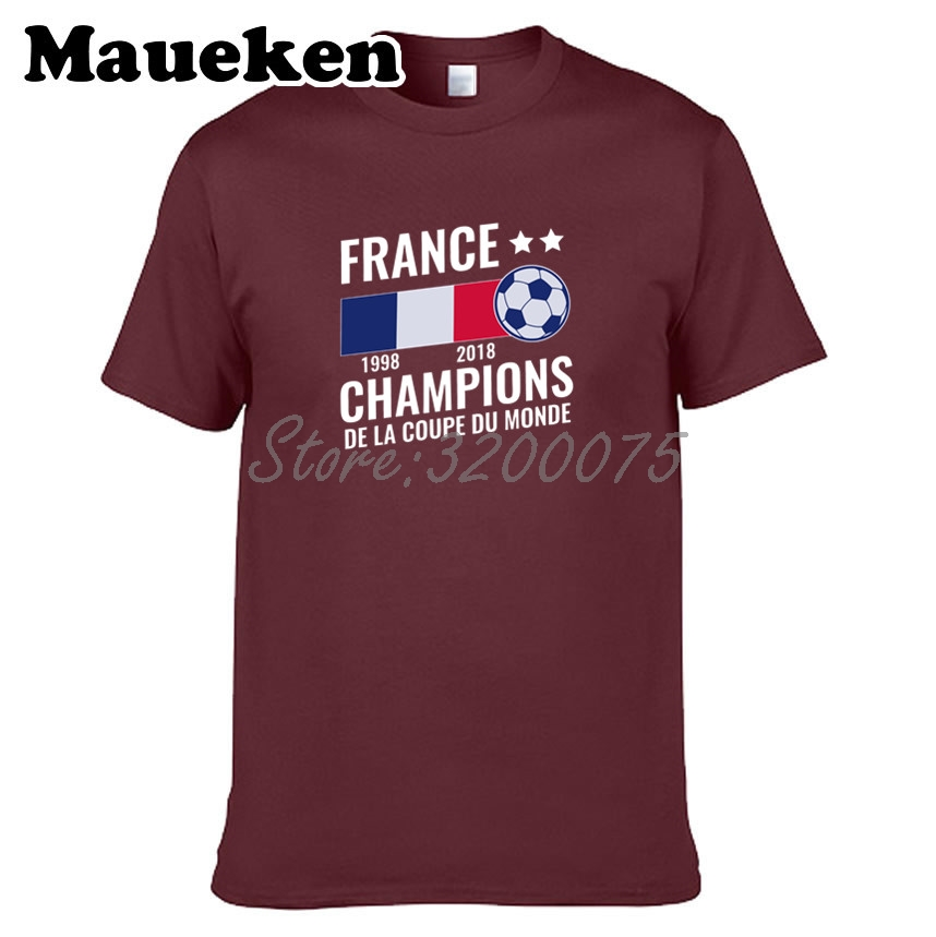 men t shirt france 1998 2018 world champions de la coupe. Black Bedroom Furniture Sets. Home Design Ideas