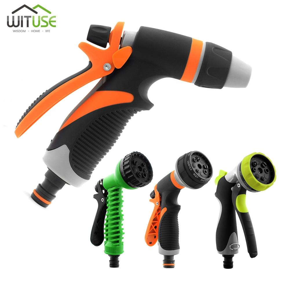 Pistola de agua multifuncional, pistola portátil para lavar el coche, jardín, riego, rociador de agua de alta presión, lavadora, herramienta de riegoPistolas de agua de jardín   -