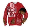 Real USA Size YG Mock 3D Sublimation print Crewneck Sweatshirts  plus size