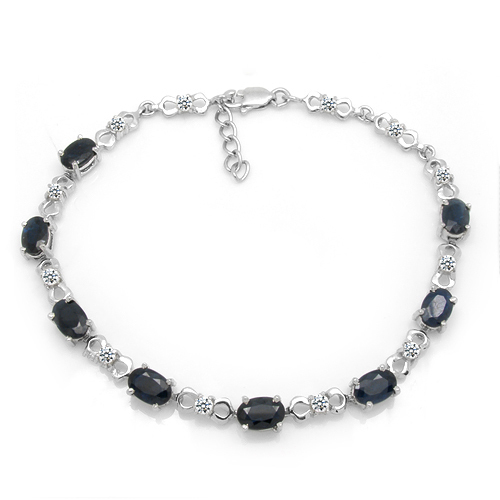 2017 Qi Xuan_Free Mail Starlight Dark Blue Stone Bracelets_S925 Solid Silver Fashion Bracelets_Manufacturer Directly Sales nokia 230 dark silver
