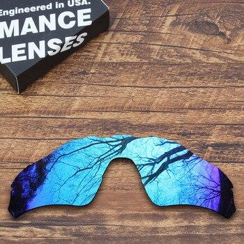5320fe36dd ToughAsNails polarizado lentes de repuesto para Oakley Rader EV Path gafas  de sol azul espejo (lente única)