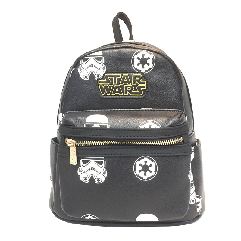 9f94ad450232 Anime Movies Star Wars Leather Backpack for Boys Girls Star War Batman  Deadpool Wonder Woman Schoolbag Kids Gift Small Cute Bags-in Backpacks from  Luggage ...