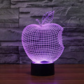 Creative USB Lamp Night Light Colorful Apple LED 3D Three-dimensional Bedroom Living Room Bedlamp Novelty Lighting Touch Button