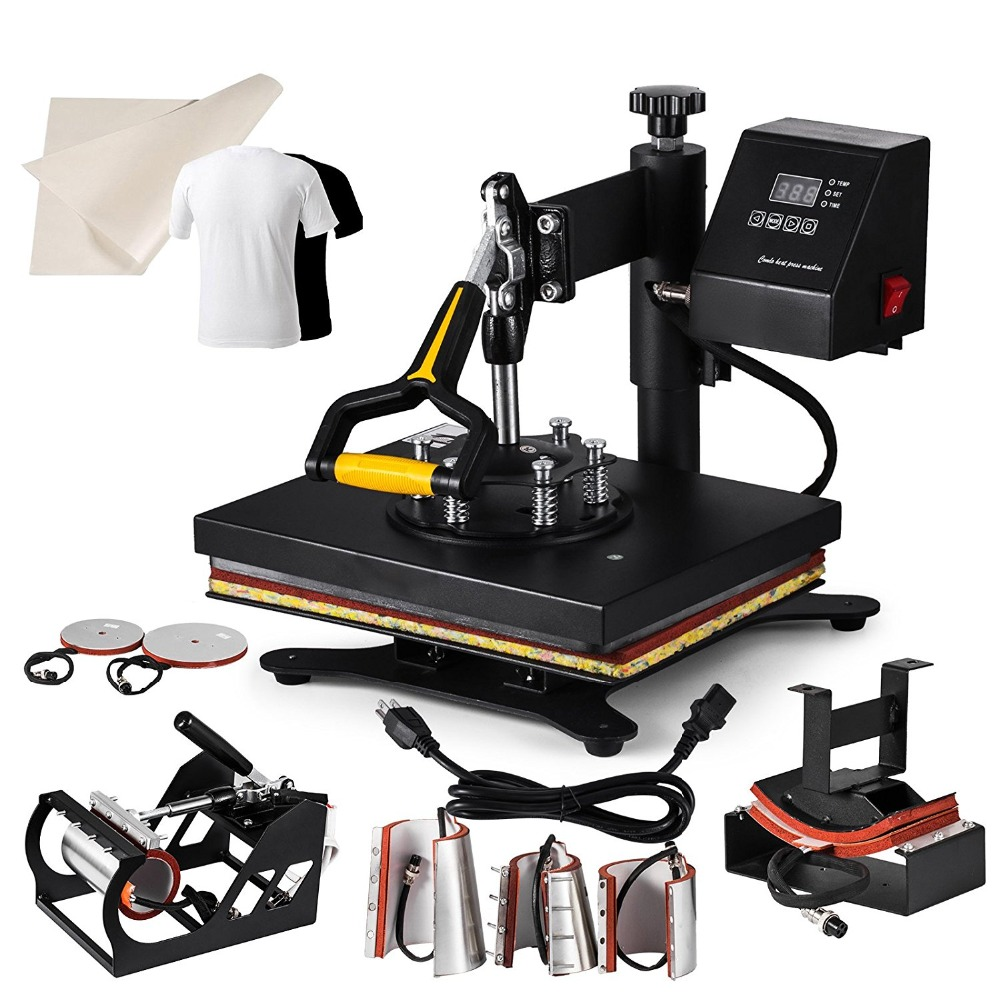 Heat Press Machine 8 In 1 30x25cm Multifunction Sublimation Desktop Iron Baseball Hat Press 12x10
