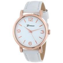 Important 2017 Vogue White Watch Ladies's Brushed Metallic Leather-based Band WristWatches Bangle Bracelet Relojes Dec29