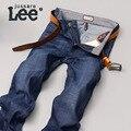 Jussara Lee Mens Brand Jeans Otoño de Mezclilla Azul Jean Diseñador Delgado Jeans Stretch de Algodón Jean Pantalones Para Los Hombres 2080