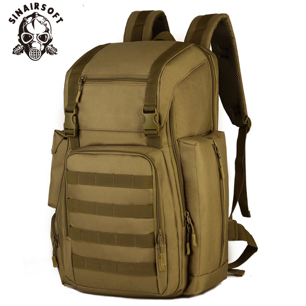 SINAIRSOFT 40L 17 Inches laptop Army Military Tactical Backpack Sport bag Nylon Molle System for Camping Hiking Climbing LY2020 sinairsoft 14 inch laptop tactical molle military backpack 800d nylon sports bag camping hiking waterproof men travel backpack