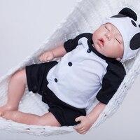Be Sleeping 20 Inch Silicone Reborn Baby Dolls Lifelike Newborn 50 cm Doll Babies Realistic Boy DIY Toy For Kids Birthday Gift
