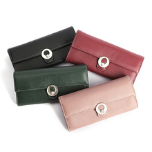 Womens Wallets and Purses Genuine Leather Women Wallets Fashion Solid Hasp Clutch Long Wallet Money Bag Dropshipping New 2019 цена и фото