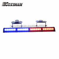 High brightness LED dash lights, LED warning light, 4 modules TIR 6 1W LED, 15 flash patterns, sucker install, LED visor light