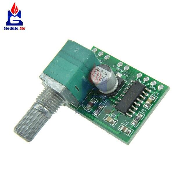 2 pièces Super Mini PAM8403 DC 5 V 2 canaux USB Module de carte amplificateur Audio numérique 2*3 W contrôle du Volume avec interrupteur potentiomètre