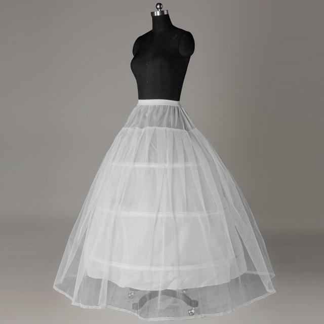 3 aros Underskirt para balón vestido de boda vestido jupon mariage nupcial del vestido de boda de accesorios crinolina de tul enaguas en Stock P5