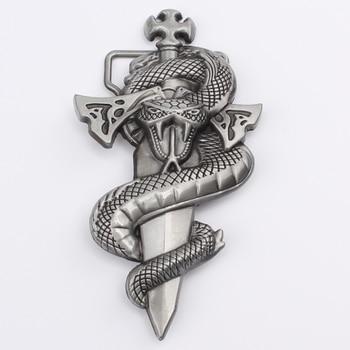 hip-hop cowboy belt accessories personality snake sword belt buckle belt