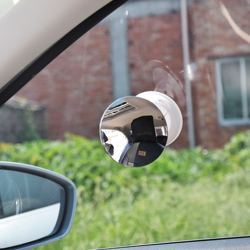 2018 New Interior Rear View Mirror No Side Frame 360 Degrees No Dead Angle Baby Safety Mirror Vehicle - Mounted ABS Plating