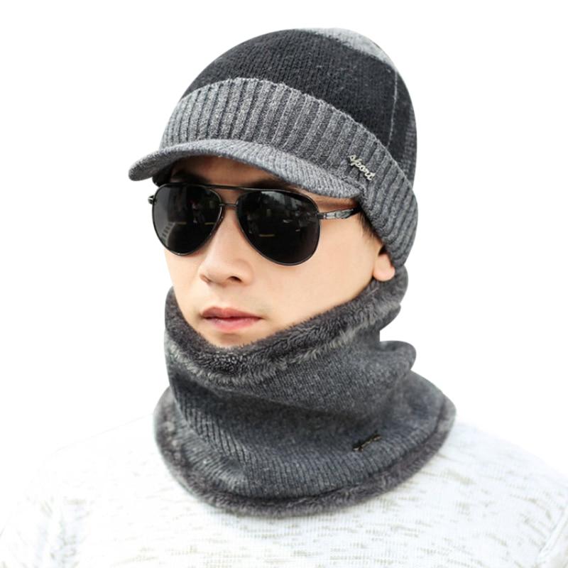 d27eeab9477 Fashion Winter Hats Skullies Beanies Winter Caps Men Women Wool Scarf Caps  Balaclava Mask Gorras Female Male Bonnet Knitted Hat-in Skullies   Beanies  from ...