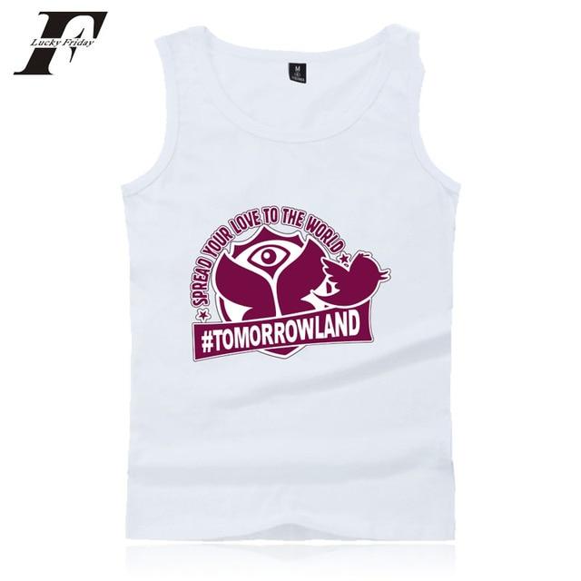 75339d346b9c1 LUCKYFRIDAYF Tomorrowland Workout Tank Tops Men/women Summer undershirt  Sleeveless Tank Top fitness Bodybuilding Vest plus size
