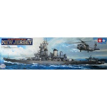 Tamiya 78028 1/350 US Battle Ship BB62 New Jersey Assembly Scale Military Ship Model Building Kits TTH