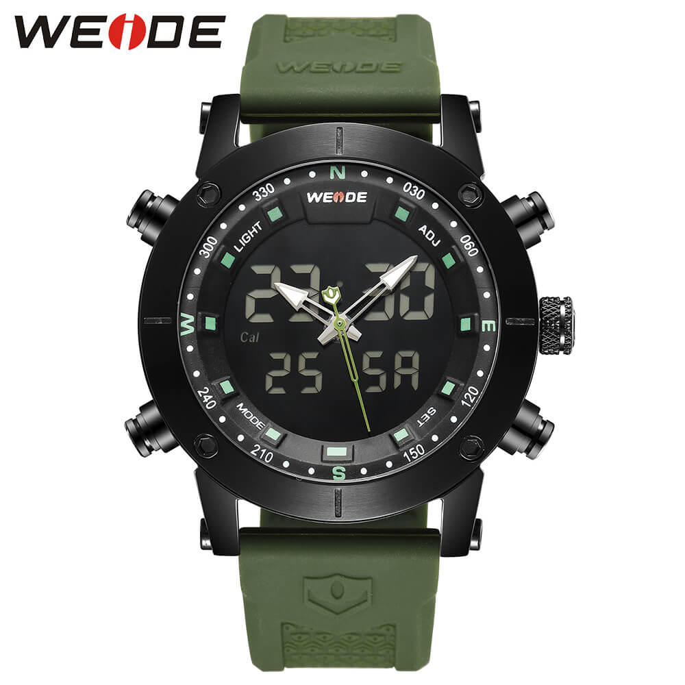 WEIDE luxury original Genuine LCD digital Sport fitness watch alarm clock men Silicone waterproof men's  Analog LED watches box splendid brand new boys girls students time clock electronic digital lcd wrist sport watch