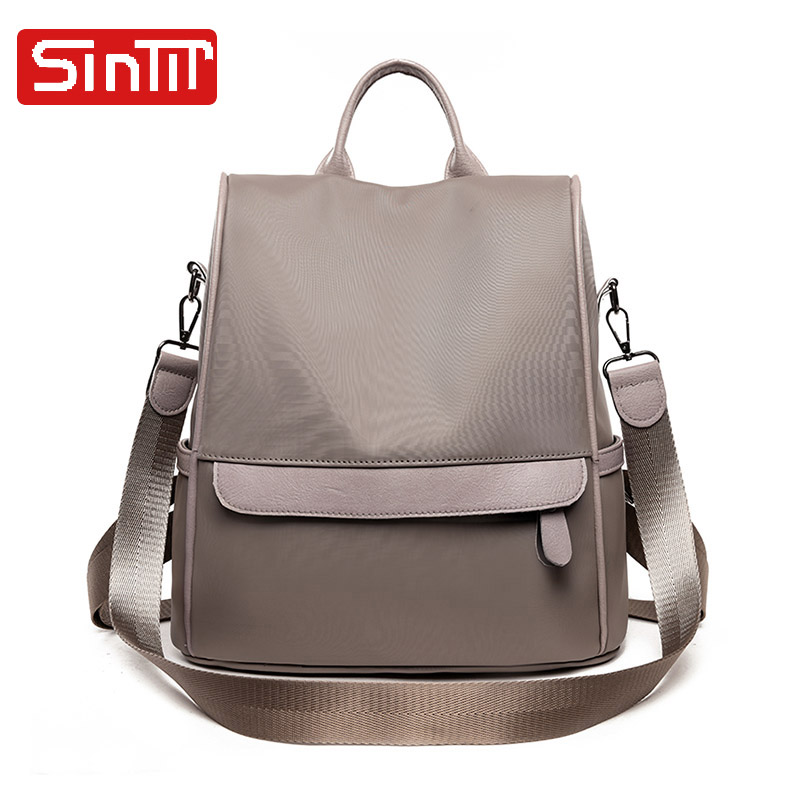 SINTIR High Quality Waterproof Oxford Women Backpack Solid Large Capacity School Bags For Teenagers Girls Casual Shoulder Bags 2018women backpack new high quality pu leather mochila escolar school bags for teenagers girls top handle large capacity package