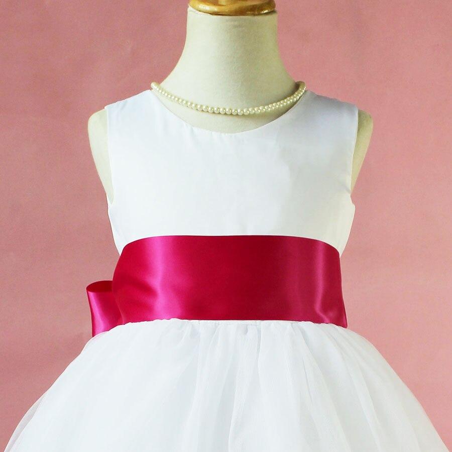 Princesa blanca Niña de las Flores Vestido de Noche de Baile vestido ...