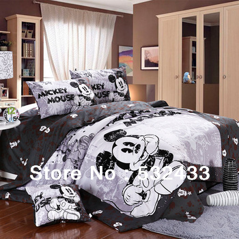Kids Cartoon 5pc Mickey Mouse Comforter Sets Quilt 4pc