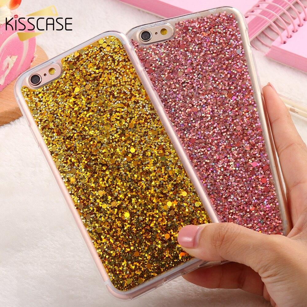 Kisscase lujo metal case para iphone 6 6s plus 5.5 espejo cubierta de galvanopla