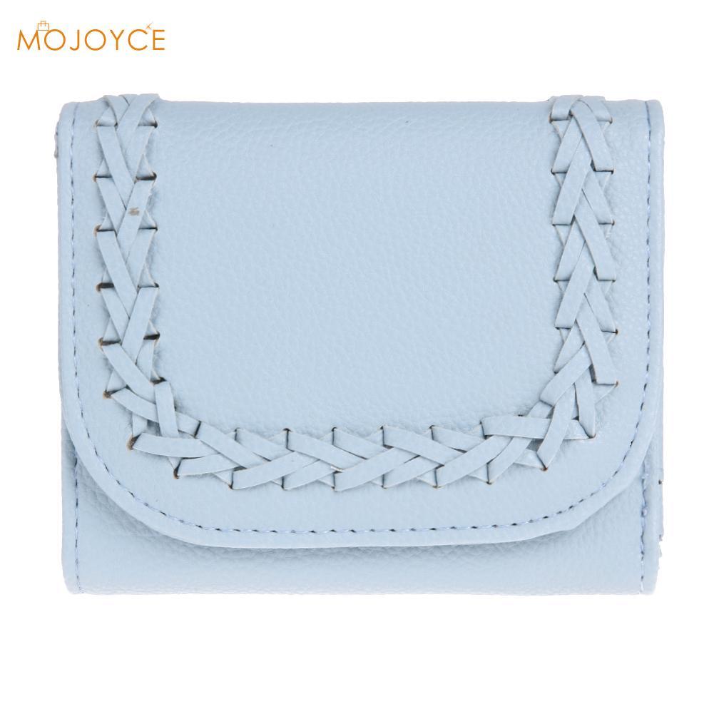Designer Short Wallet Female Women Clutch Handbag Card Holder Coin Purse Wallet Folding Wallet Weaving Card Coin Clutch Purse casual weaving design card holder handbag hasp wallet for women