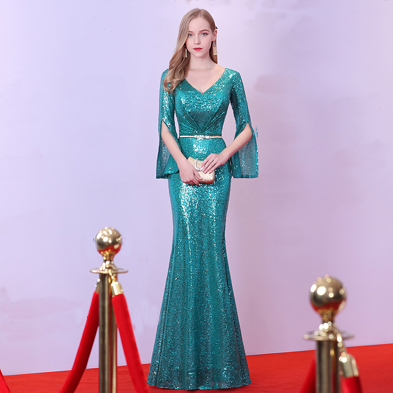 vestido de noiva Luxury Evening Gowns noble black robe de soiree ...