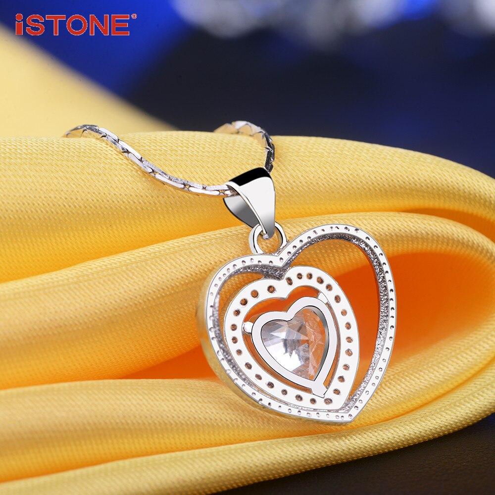 iSTONE Բնական ադամանդե կախազարդ 925 - Նուրբ զարդեր - Լուսանկար 4