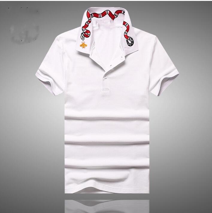 bordado cobra vermelha moda polo camisa hip